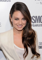 Mila Kunis attended the Cosmopolitan Fun Fearless Males of 2011 event wearing a Lauren Joy mini necklace in 14-karat rose gold with diamonds.