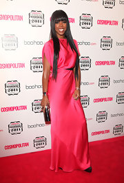 Kelly Rowland was super-hot in a silk pink gown for the Cosmopolitan Women of the Year Awards.