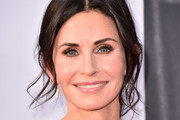 Courteney Cox Messy Updo