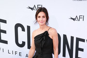 Courteney Cox One Shoulder Dress