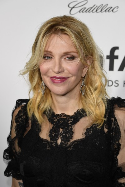 Courtney Love Medium Wavy Cut with Bangs
