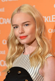 Kate Bosworth's red-orange lippy totally brightened up her face!