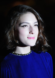 Maria Valverde wore her short hair in soft curls for the premiere of 'Cracks.'