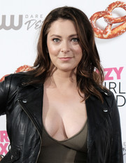 Rachel Bloom looked sweet and girly with her shoulder-length waves at the 'Crazy Ex-Girlfriend' premiere party.