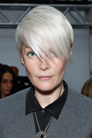 Kate Lanphear made emo bangs look so chic during the Creatures of the Wind fashion show.
