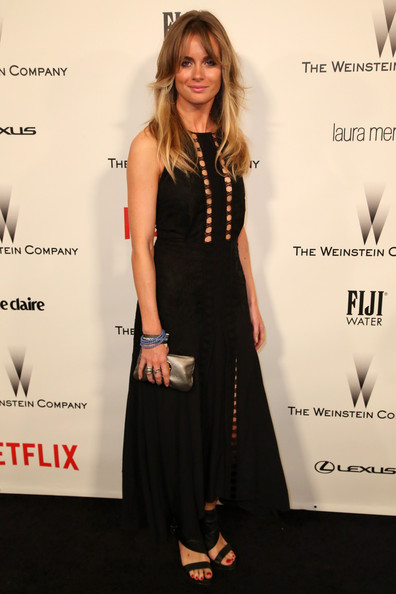 Cressida Bonas Little Black Dress [clothing,dress,little black dress,red carpet,carpet,fashion,premiere,cocktail dress,formal wear,long hair,laura mercier,marie claire - red carpet,cressida bonas,fiji water,the beverly hilton hotel,weinstein company,golden globes,netflix,lexus,party]
