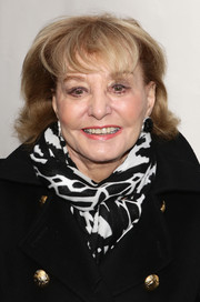 Barbara Walters attended the Broadway opening of 'The Cripple of Inishmaan' wearing a short 'do with bangs.