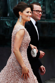 Princess Victoria's dangling diamond earrings were jaw-dropping, to say the least.