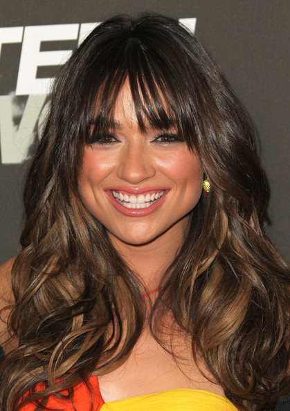 Crystal Reed Long Curls with Bangs