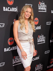 LeAnn Rimes sparkled with this diamond bracelet and studded top combo at the Cuban Independence Day celebration.
