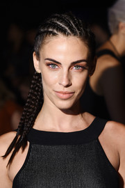 Jessica Lowndes rocked multiple French braids at the Cushnie et Ochs fashion show.