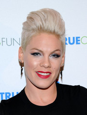 Pink sported a sky-high fauxhawk at the 'Home for the Holidays' concert.