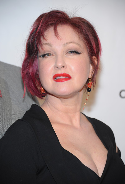 Cyndi Lauper Inverted Bob
