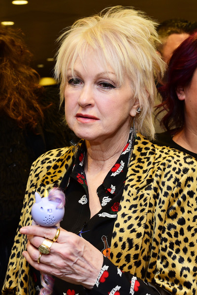 Cyndi Lauper Layered Razor Cut [hair,blond,hairstyle,fashion,event,hair coloring,singer,bangs,grammy gift lounge,cyndi lauper,grammy,gift lounge,new york city,madison square garden,annual grammy awards]