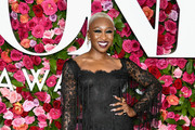 Cynthia Erivo Metallic Clutch