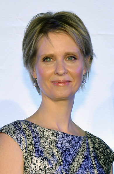 Cynthia Nixon Layered Razor Cut [cynthia nixon,hair,face,hairstyle,eyebrow,chin,blond,shoulder,beauty,lip,long hair,grand central terminal,new york city,anniversary celebration,grand central terminal 100th anniversary celebration]