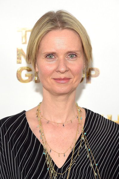 Cynthia Nixon Short Straight Cut [hair,face,hairstyle,chin,blond,forehead,official,neck,smile,businessperson,tribeca rooftop,new york city,new group gala,cynthia nixon]