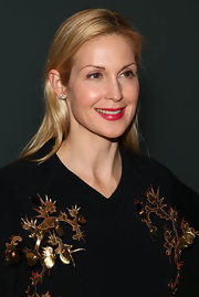 Kelly Rutherford wore a rich ruby lipstick at the Cynthia Rowley fall 2012 fashion show.
