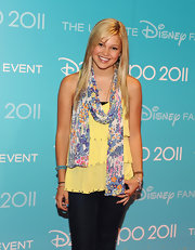 Olivia Holt was all sunshine in this  yellow layered tank.