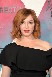 Christina Hendricks sported a wavy bob while visiting DIRECTV House.