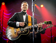 Justin Timberlake totally rocked a massively over-sized bow tie.