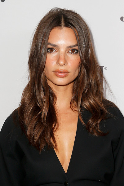More Pics of Emily Ratajkowski Strappy Sandals (1 of 6) - Emily Ratajkowski Lookbook - StyleBistro [hair,face,hairstyle,eyebrow,lip,brown hair,long hair,chin,beauty,layered hair,emily ratajkowski,2019 fashion media awards,new york city,the rainbow room,daily front row,the daily front row]