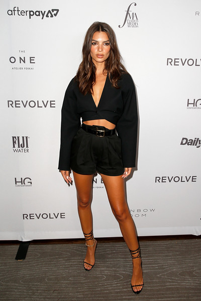 More Pics of Emily Ratajkowski Strappy Sandals (2 of 6) - Emily Ratajkowski Lookbook - StyleBistro [clothing,fashion,little black dress,dress,shoulder,leg,footwear,cocktail dress,fashion model,joint,emily ratajkowski,2019 fashion media awards,new york city,the rainbow room,daily front row,the daily front row]