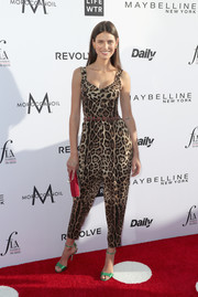Bianca Balti went bold in a leopard-print jumpsuit by Dolce & Gabbana at the Fashion Los Angeles Awards.