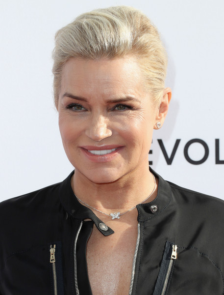 More Pics of Yolanda Hadid Jumpsuit (1 of 3) - Suits Lookbook - StyleBistro [hair,face,blond,hairstyle,eyebrow,forehead,chin,beauty,lip,white-collar worker,arrivals,yolanda hadid,west hollywood,california,sunset tower hotel,daily front row,3rd annual fashion los angeles awards]