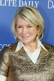Martha Stewart attended the DailyMail.com Holiday party wearing her hair in a short bob.