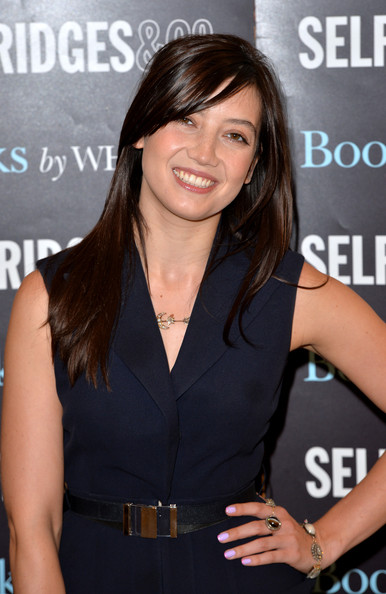 Daisy Lowe Leather Belt [recipe book,hair,hairstyle,brown hair,long hair,premiere,little black dress,black hair,layered hair,dress,smile,copies,sweetness light,daisy lowe,fans,signs,england,london,selfridges,book signing]