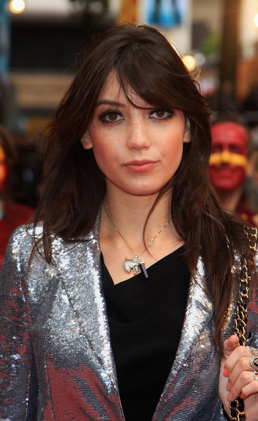 Daisy Lowe Long Straight Cut with Bangs [harry potter and the half blood prince,hair,face,hairstyle,lip,street fashion,beauty,brown hair,layered hair,long hair,fashion,arrivals,daisy lowe,england,london,empire leicester square,world premiere]