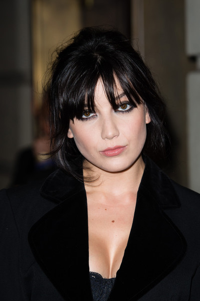 Daisy Lowe Smoky Eyes [hair,face,hairstyle,bangs,black hair,eyebrow,lip,chin,layered hair,beauty,green carpet challenge,daisy lowe,london,united kingdom,summer,bafta,lfw,collections]