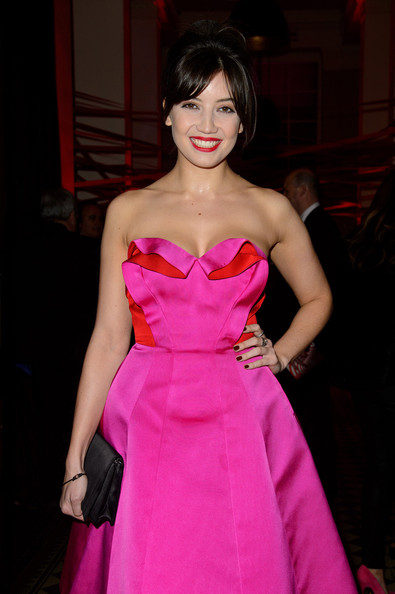 Daisy Lowe Dark Nail Polish [hair,clothing,dress,fashion model,pink,fashion,strapless dress,magenta,haute couture,beauty,daisy lowe,aid,tunnel of love,england,london,party,british heart foundation,tunnel of love fundraiser,fundraiser,one mayfair]