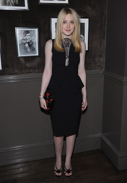 Dakota Fanning Little Black Dress