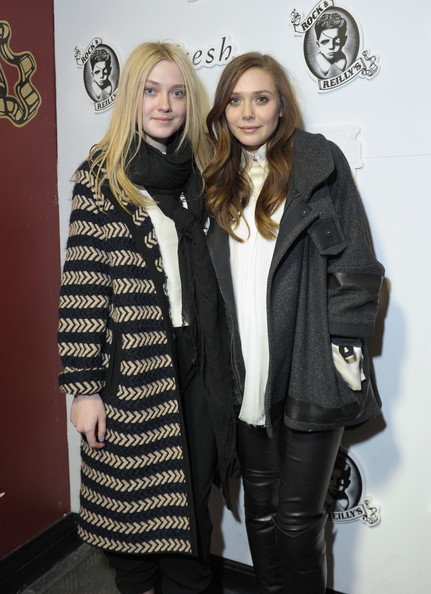 Dakota Fanning Evening Coat