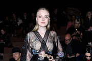 Dakota Fanning Wrap Dress