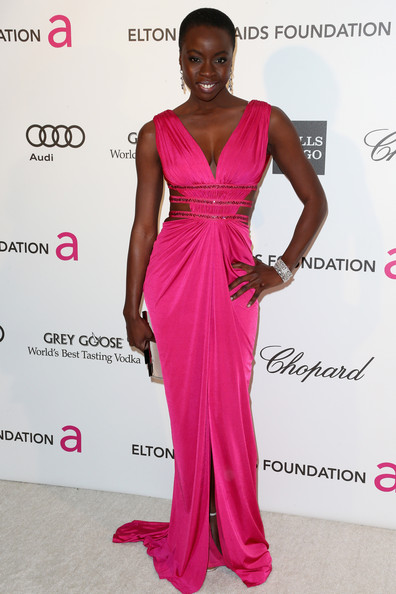Danai Gurira Cutout Dress