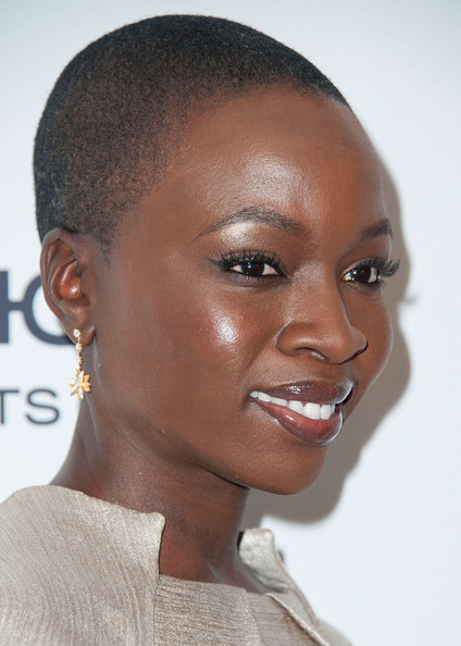 Danai Gurira Buzzcut [danai gurira,marie claires,marie claires fresh faces party,hair,face,eyebrow,hairstyle,forehead,lip,skin,chin,head,beauty,soho house,west hollywood,california,fresh faces party]