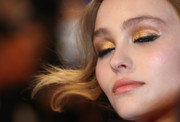 Lily-Rose Depp attended the Cannes premiere of 'The Dancer' sporting gilded lids.