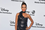 Dania Ramirez Leather Dress