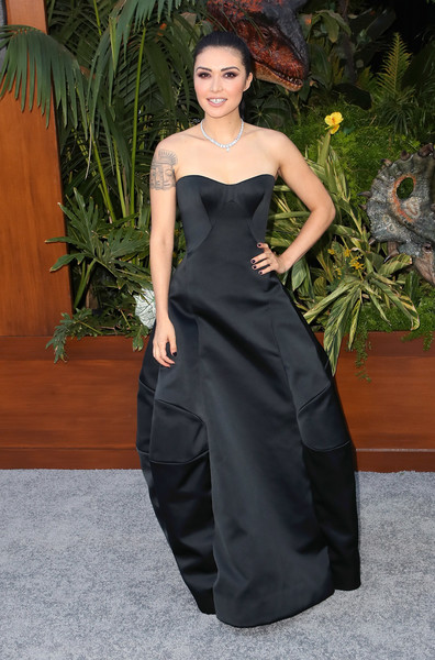 Daniella Pineda Strapless Dress