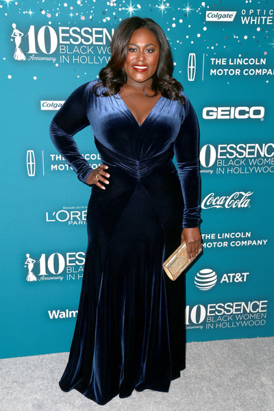 Danielle Brooks Metallic Clutch