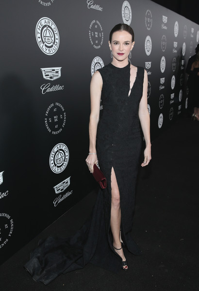 Danielle Panabaker Cutout Dress [art of elysium,the art of elysium,clothing,dress,fashion model,little black dress,shoulder,fashion,cocktail dress,hairstyle,premiere,carpet,john legend,danielle panabaker,heaven,santa monica,california,red carpet,11th annual celebration]