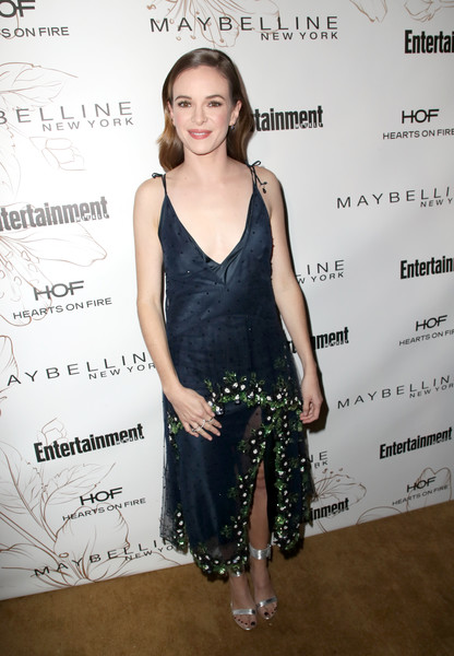 Danielle Panabaker Embroidered Dress