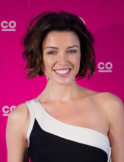 Danni Minogue wore a glossy rose lipstick at the launch of Fibrelash Brush for False Lashes by ModelCo.