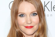 Darby Stanchfield Bright Lipstick