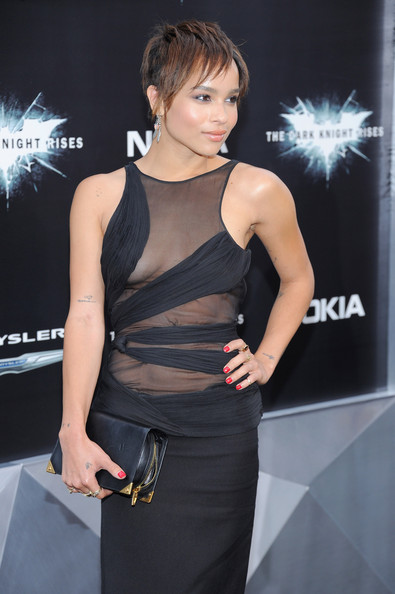 More Pics of Zoe Kravitz Layered Razor Cut (1 of 4) - Zoe Kravitz Lookbook - StyleBistro