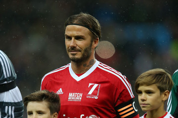 David Beckham Romeo Beckham David Beckham Match for Children in Aid of UNICEF