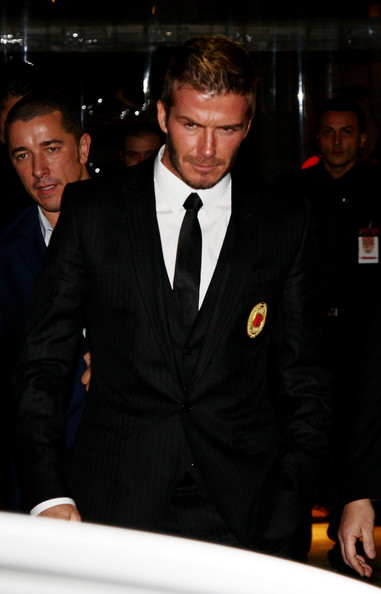 More Pics of David Beckham Classic Solid Tie (4 of 10) - David Beckham Lookbook - StyleBistro